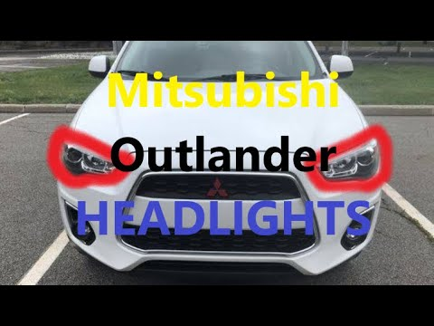 How to Replace Headlight BULBS  on Mitsubishi Outlander 2010 2020