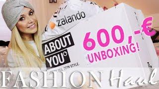 Mega 600 Euro Try on Fashion Haul & XXL Unboxing - Zalando & About You - Steht mir das? 2016 Deutsch