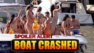 BEST TWERK EVER !! TWERKING AND CRASHING MIAMI RIVER GETS WILD | BOAT ZONE