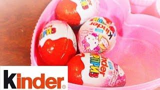 Киндер сюрприз игрушки Хэллоу Китти открываем Kinder Surprise