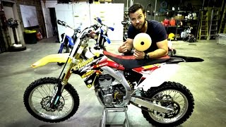 How to clean and oil dirt bike air filter, step by step tutorial
