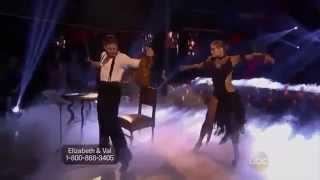 Elizabeth Berkley   Val Chmerkovskiy Argentine Tango Dancing