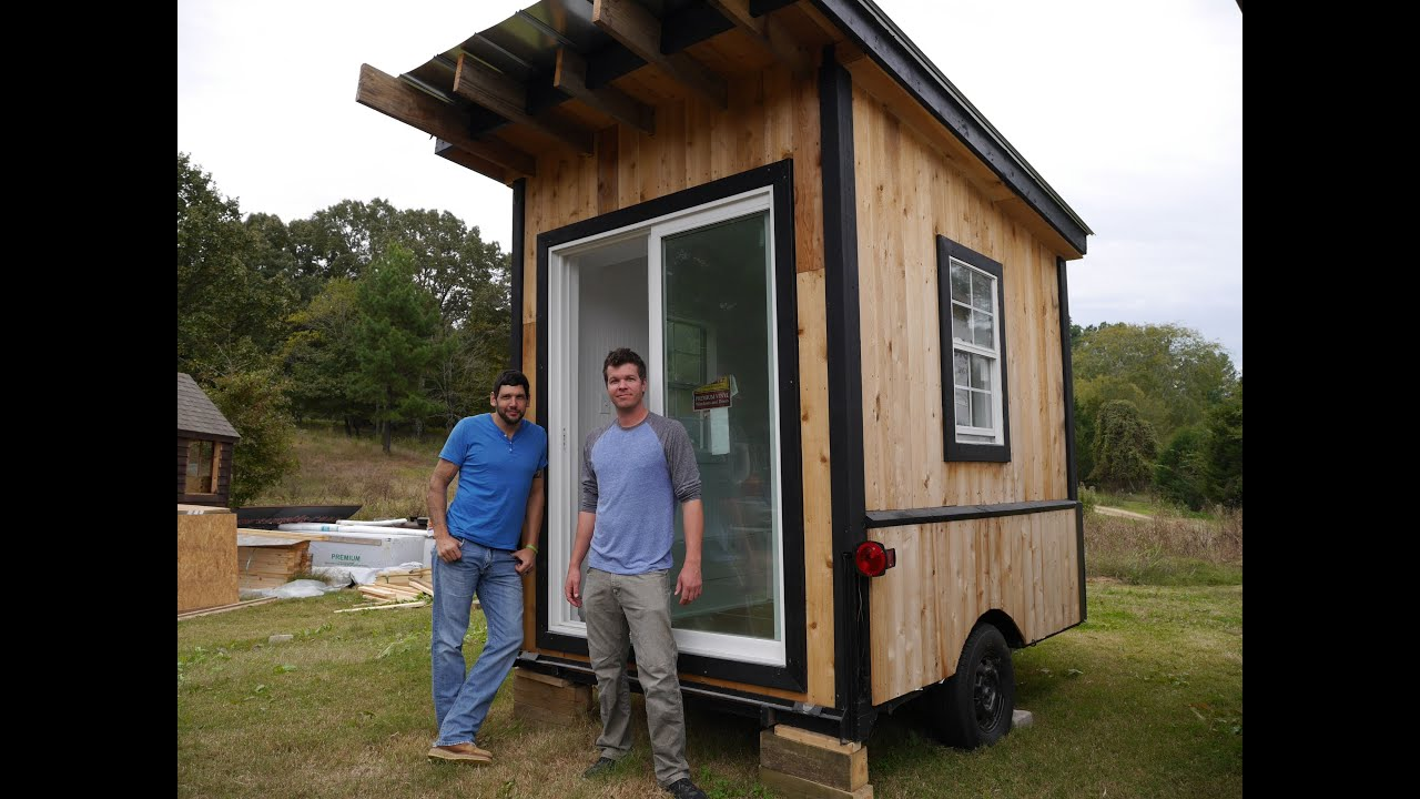 A tiny tailgating house cabin on wheels a 60 square foot for Diy home building cost