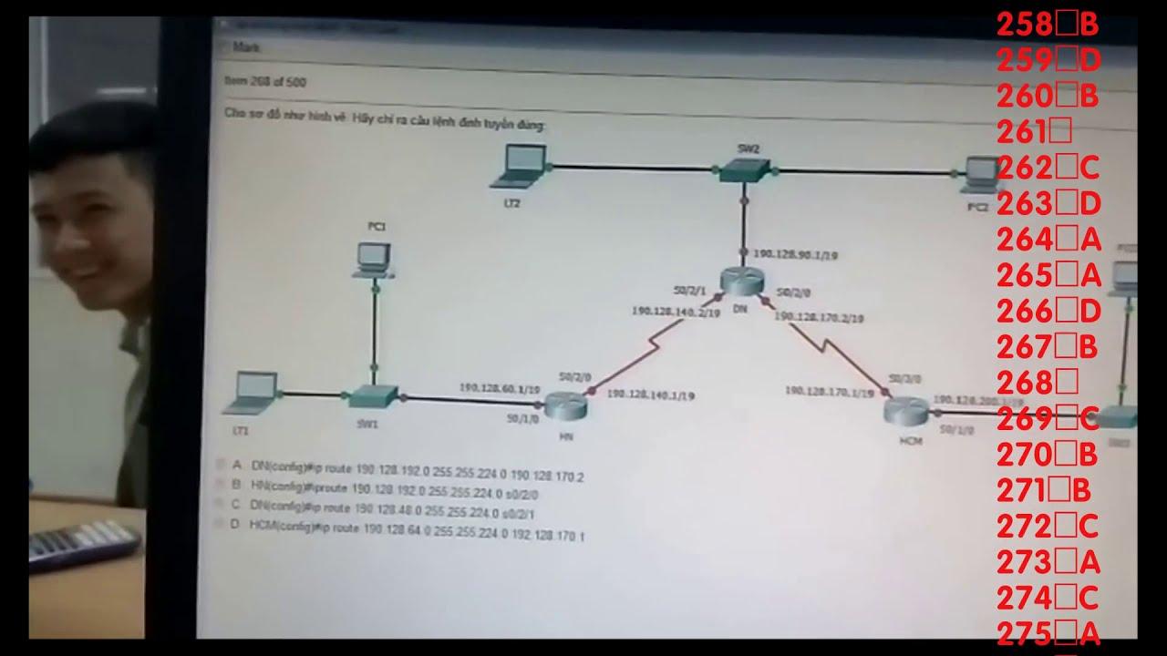 Đề thi Mạng máy tính HAUI