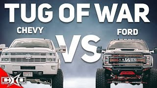 TUG OF WAR - SUPERCHARGED CHEVY VS TURBO FORD!