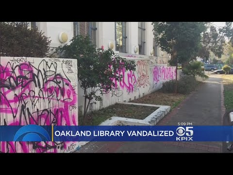 Clues Surface About Vandal Who Covered Oakland Library With Graffiti