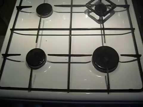 Как почистить конфорку газовой плиты.