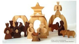 Wood Toy Plans - Baby Jesus Manger Scene