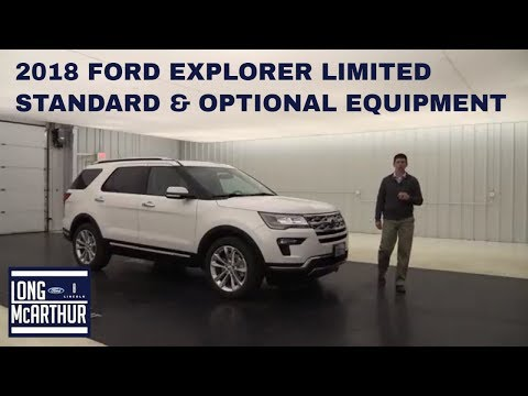 2018 FORD EXPLORER LIMITED OVERVIEW: STANDARD & OPTIONAL EQUIPMENT