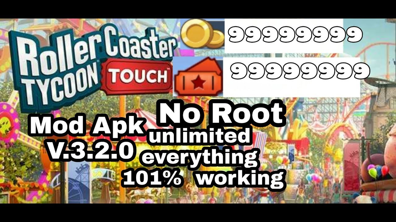 Mod Apk RollerCoaster Tycoon Touch MOD APK 3 2 0 Unlimited Money