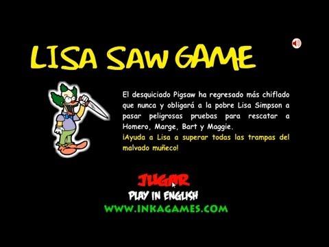 HD Lisa Simpson Saw Game Walkthrough / Guía