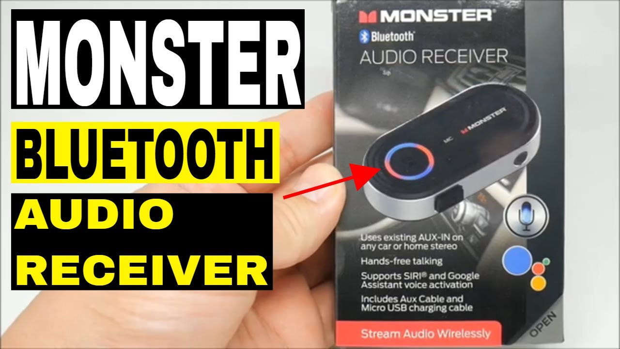 Monster Bluetooth Audio Receiver Google & Siri Virtual Assistant UNBOXING!