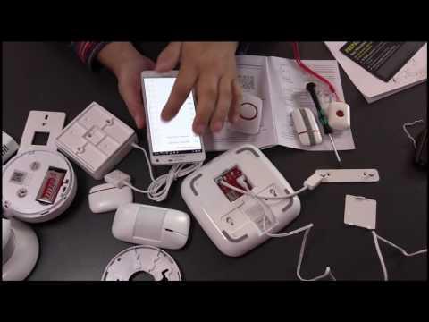 ABTO drahtlose Alarmanlage WiFi und GSM mit vielen Detektoren und IP-Cam