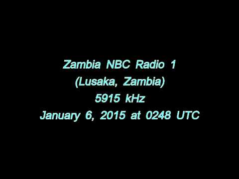 Zambia NBC Radio 1 (Lusaka, Zambia) - IS + Start of transmission - 5915 kHz