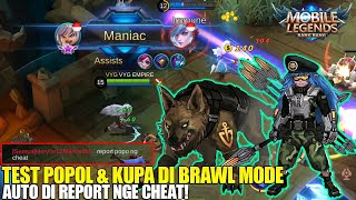 KENGERIAN POPOL & KUPA DI BRAWL MODE - DAMAGENYA MAKIN GILA AUTO MANIAC! MOBILE LEGENDS