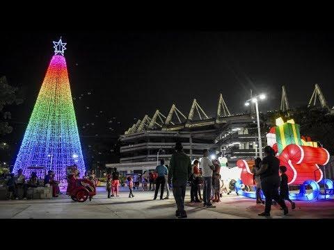 Así Alumbraron Los Lugares Representativos De Barranquilla En Navidad