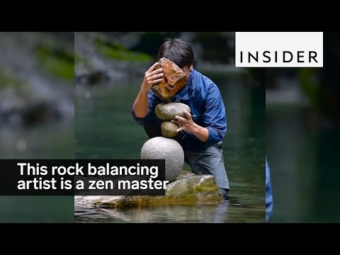 This rock balancing artist is a Zen master