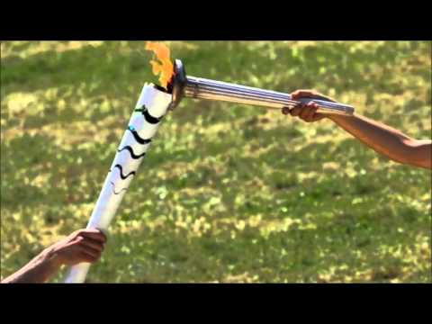 Olympic torch for Rio games lit at ancient Greek site