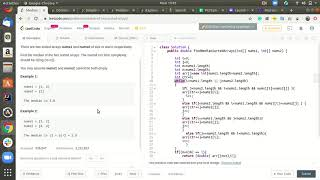 LeetCode Median of Two Sorted Arrays Solution Explained in Java