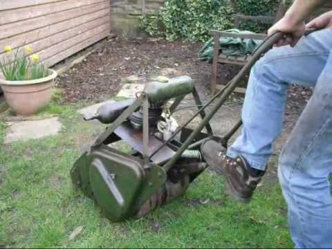 Vintage Atco Lawn Mower Out Of Winter Hibernation