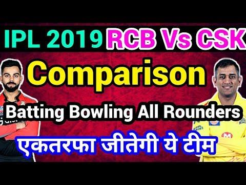 IPL 2019: RCB Vs CSK Team comparison, Batsman, all-rounder, Bowlers,