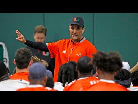 UM's Manny Diaz First Practice As Head Football Coach