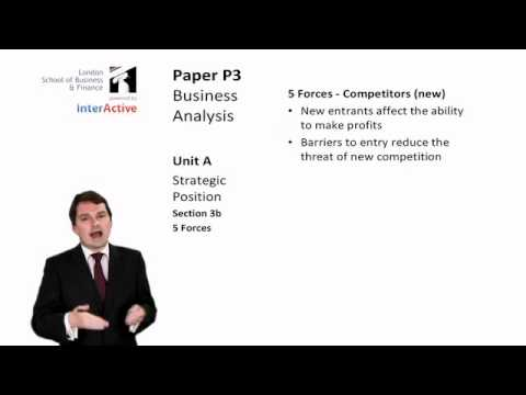 LSBF ACCA P3: Introduction to Porter's Five Forces