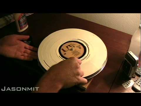 To Clean Records - Using Wood Glue 1 of 2