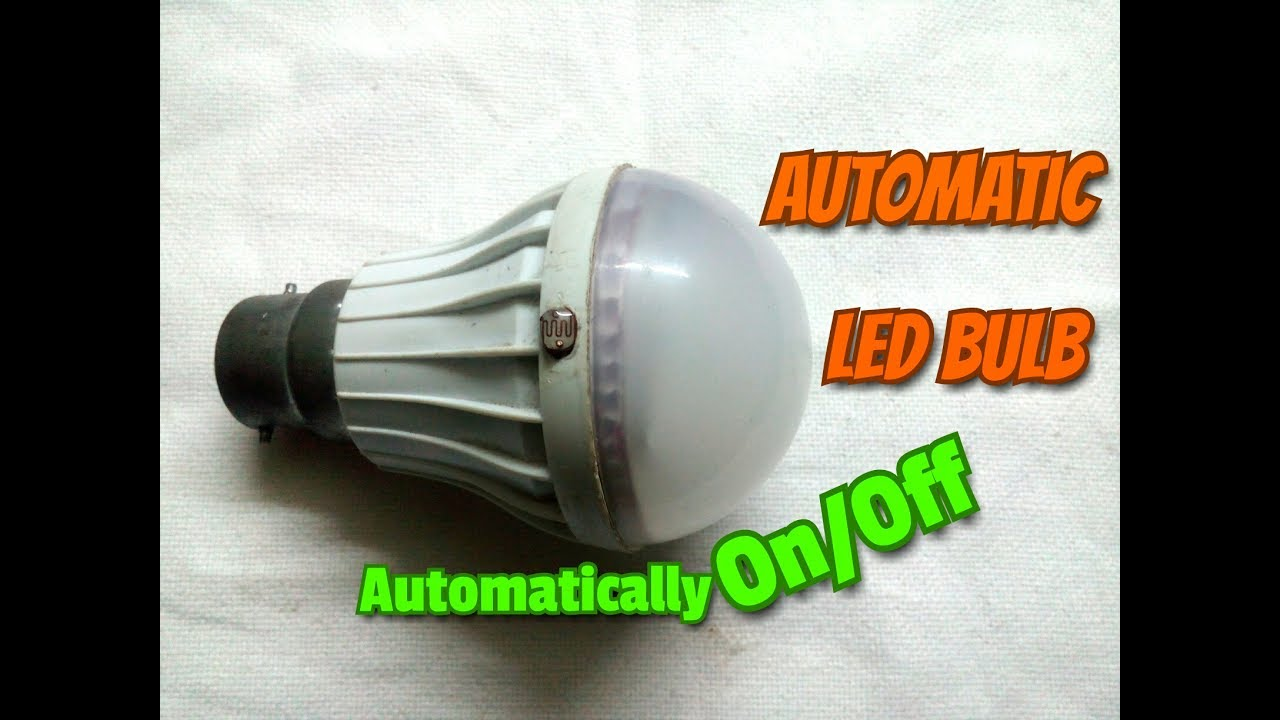 Automatic Led Light Bulbautomatic On Off Lightmake It At Your 230v Night Lamp Homesimple Processeasy Way