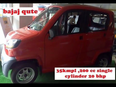Bajaj Qute Smallest And Low Price Car In India 35kmpl
