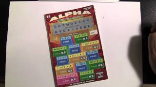 Alpha Instant Scratch off Lottery Ticket PA Lottery $3