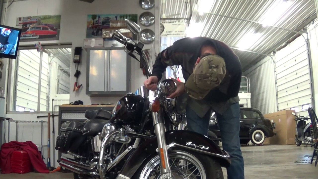 install harley passing lamps - softail headlight - softail heritage led  daymaker driving lights