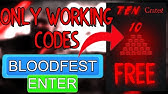 How To Redeem Codes In Bloodfest Code Youtube
