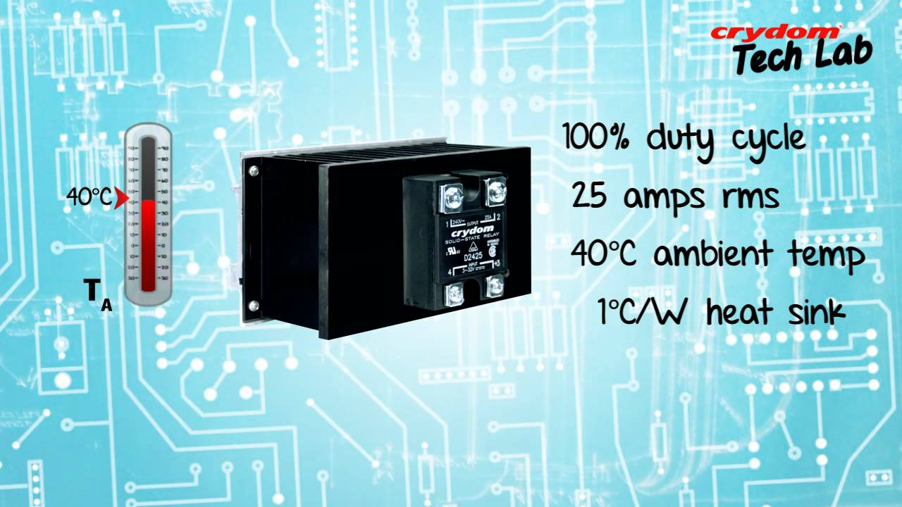 Crydom Techlab 3 How Operating Conditions Of Ssrs And Contactors Solid State Relay Impact Their Output Rating