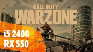 Call of Duty: Warzone i5 2400 RX 550 1080p 900p 720p