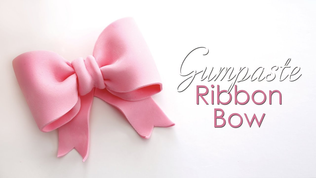 Download Gumpaste / Fondant Ribbon Bow Tutorial for Cakes