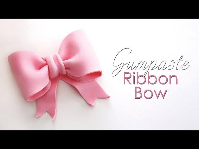 Gumpaste / Fondant Ribbon Bow Tutorial for Cakes
