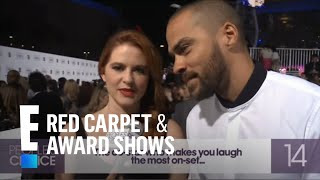 Against the Clock with... Jesse Williams & Sarah Drew | E! People's Choice Awards