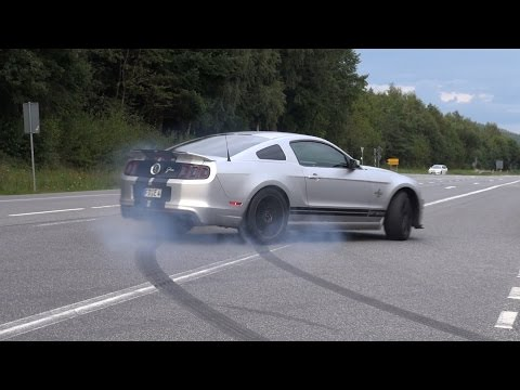 662HP Ford Shelby Mustang GT500 SVT Burnout fail!