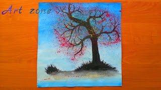 Как нарисовать дерево(Здравствуйте, в этом видео вы увидите, как нарисовать дерево. Надеюсь этот урок будет вам полезен. Желаю..., 2016-04-21T23:30:10.000Z)