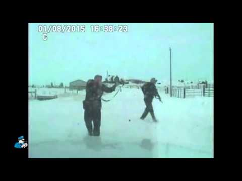 Dashboard video of Yellowstone County Deputies Shooting Loren Simpson
