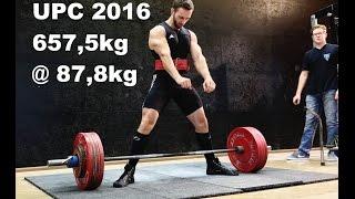 UPC SDM 2016 - 657,5kg @ 87,8kg Powerlifting RAW