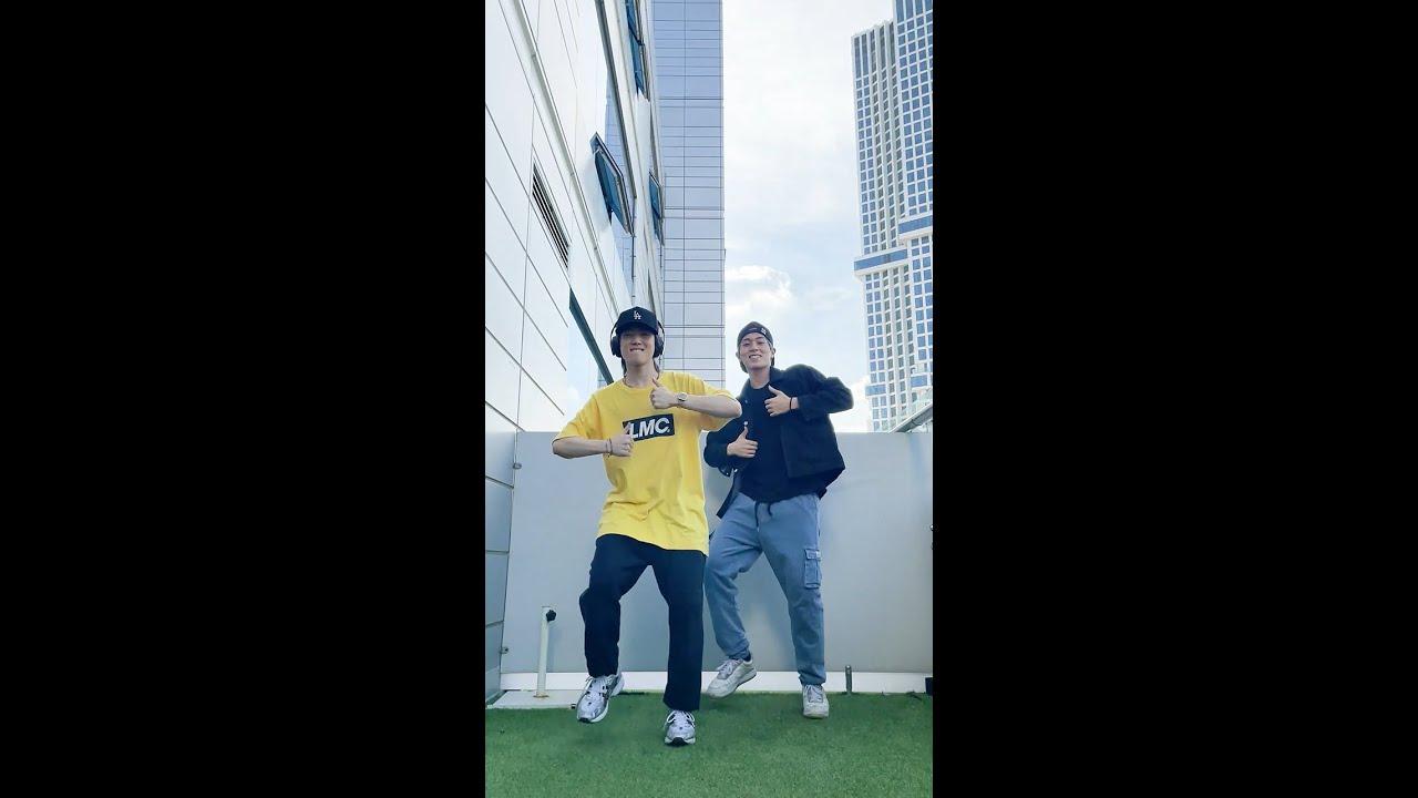 JUST B (저스트비) GEONU&SANGWOO #BTS #PermissiontoDance Challenge. #Shorts