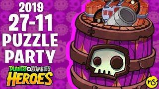 Fiesta de Puzzles (27/11/19) | PvZ Heroes | Reto Diario
