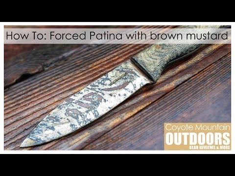 How To: Forced Patina using brown mustard