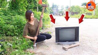 Chuyện Gì Sẽ Xảy Ra Khi Vợ Đập Ti Vi  - Cắt TV
