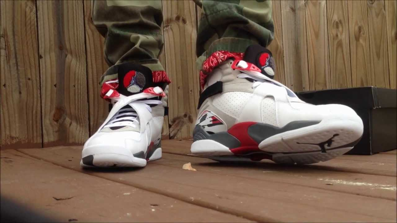 air jordan 8 on feet