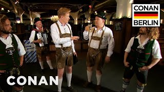 Conan & Andy Richter Learn A Traditional German Dance   CONAN on TBS