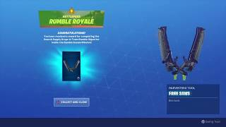 *UNLOCKED* 'FANG SAWS' Harvesting Tool After Opening Supply Drops - Fortnite RUMBLE ROYALE Challenge