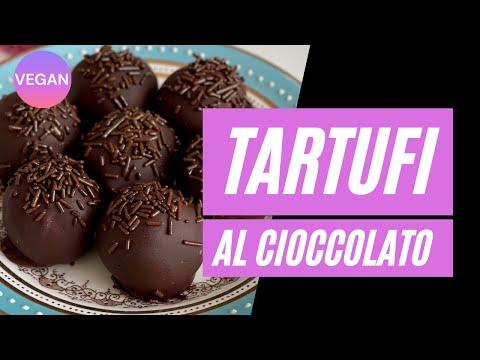Tartufi al cioccolato vegani #shorts